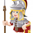 Cartoon Roman Soldier - Stock Vector