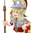 Cartoon Roman Soldier - Stockvectorbeeld