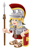 Cartoon Roman Soldier — Stock Vector