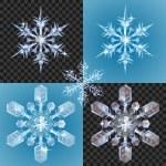 Christmas Snowflake design elements — Stock Vector #9804445