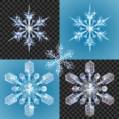 Christmas Snowflake design elements — Stock Vector
