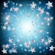 Blue star explosion background — Stock Vector