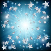 Blue star explosion background — Vector de stock