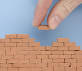 Another brick on the wall — Stock Photo