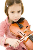 Little girl with violin — Stock Photo