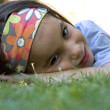 Laying on the grass — Stock Photo #9124896