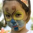Little girl with butterfly make-up — Stock Photo #9124918