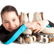 Little girl with roller skates — Stock Photo #9131044