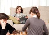 Spela schack — Stockfoto