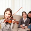Little girl playing violin — Stock Photo #9260363