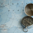 Compass and Map — Stock Photo #9261006