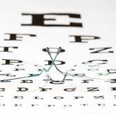 視力検査表 — ストック写真
