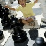 Lifesize chess — Stock Photo #9349690