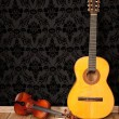 Stock Photo: Classical guitar and violin