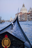 Inside view of gondola at twilight — Stock Photo