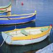 Colorful rowing boats at harbour of Malta — Stock Photo
