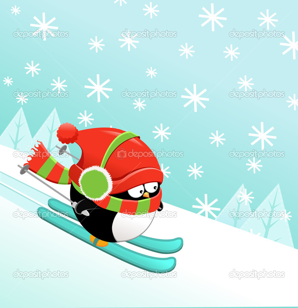 Skiing Penguin Stock Photos, Images, & Pictures - 106 Images