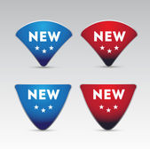 Set of four New button — Vector de stock