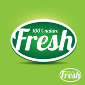 Fresh label — Stock Vector
