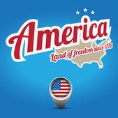 America — Vettoriale Stock