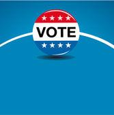 United states of america - Vote button — Stock Vector
