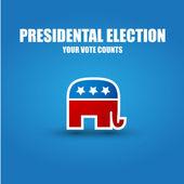 Presidental election - republicans — Stock Vector
