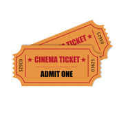 Cinema ticket — Stock Vector