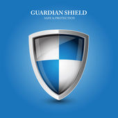 Guardian shield - safe and protection — Stock Vector