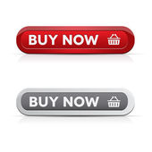 Set of buy now buttons - red, grey — Stock Vector