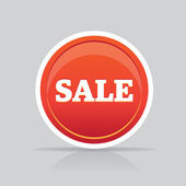Sale button illustration for internet shop or marketing — Stockvektor