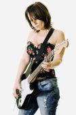 ギターを持つ女性 — ストック写真