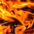 Closeup of flames in the fire — Stock Photo