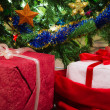 Stock Photo: Christmas tree with red gifts
