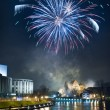 New Year's Eve with fireworks — Stock Photo #8421602