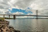 The Forth Bridge, South Queensferry near Edinburgh, Scotland — Stock Photo