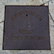 Madrid manhole cover — Foto de Stock