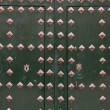 Stock Photo: Green metal door in El Escorial