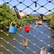 Love locks on bridge — Stock Photo #10585843
