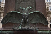 Majestic double headed eagle monument — Stock Photo
