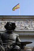 Velazquez in front of Prado — Stock Photo