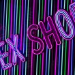 Neon sex shop sign — Stock Photo