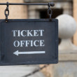 Metal plate for ticket office — Stock Photo