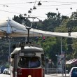 Vienna tram on its way — Foto de Stock