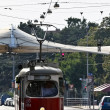 Vienna tram on its way — Lizenzfreies Foto