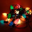 Tangled Christmas lights — Stock Photo