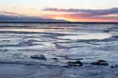 Beluga slough at sunset — Stock Photo