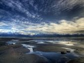 Seascape at low tide — Stock Photo