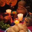 Mexican day of the dead offering altar (Dia de Muertos) — Stock Photo