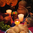 Foto Stock: Mexicday of dead offering altar (Dide Muertos)