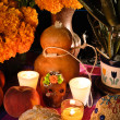 Mexicday of dead offering altar (Dide Muertos) — Stock Photo #10227710